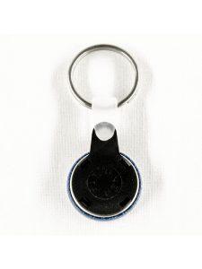 portachiavi con anello nero 25mm