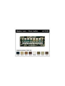 Vallejo Panzer Aces Set 2 - Contiene 8 Colori: Legno Pelle Tela Fango