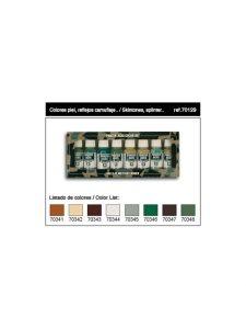 Vallejo Panzer Aces Set 6 - Contiene 8 Colori: Pelle E Mimetiche
