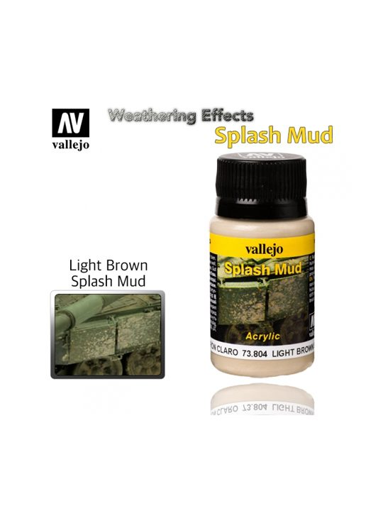 Vallejo Weathering Effects Light Brown Splash Mud