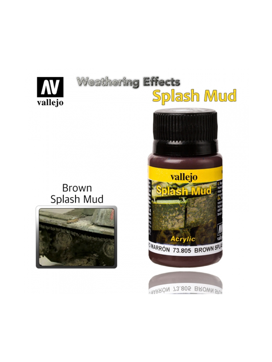 Vallejo Weathering Effects Brown Splash Mud