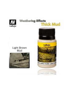 Vallejo Weathering Effects Light Brown Thick Mud