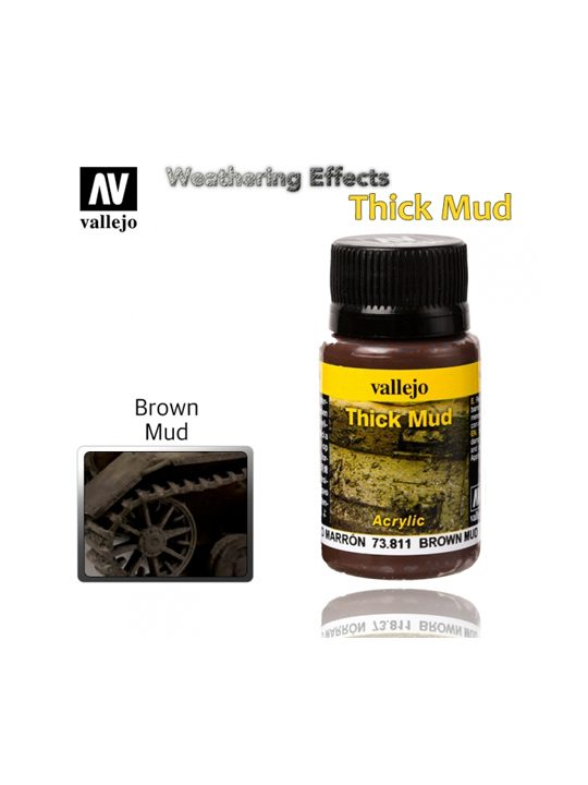 Vallejo Weathering Effects Brown Thick Mud