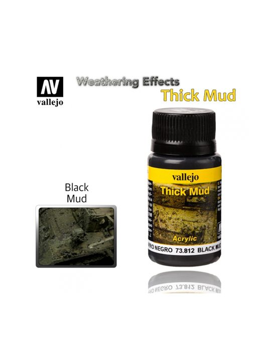 Vallejo Weathering Effects Black Thick Mud