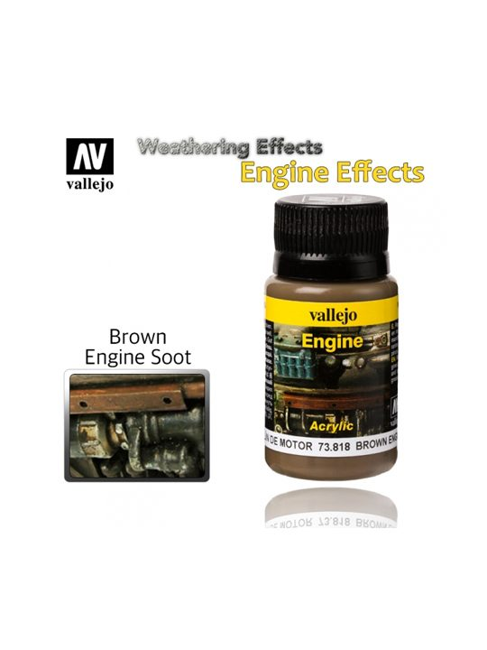 Vallejo Weathering Effects Brown Engine Soot